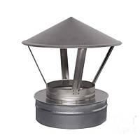 Зонт на трубу дымохода 100/160 двустенный нержавейка/оцинковка