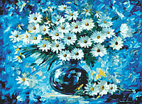 Картина раскраска по номерам без коробки Идейка Ромашки в вазе худ Афремов, Леонид (KHO1084) 40 х 50 см