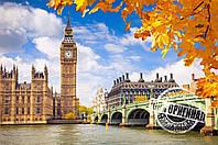 Картина раскраска по номерам без коробки Идейка Осенний Лондон (KHO2134) 40 х 50 см