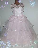 Детское праздничное платье  на девочку (нарядное, новогоднее, Золушка) 5-8 лет шнуровка и молния