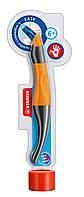 Набор STABILO EASYoriginal ручка для правши ( оранж/антрацитов) + 3 синих стержня в тубусе411164