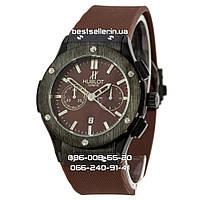 Часы Hublot 1063 (Кварц) Brown/Black (UNISEX). Реплика, фото 1