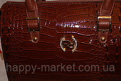 Сумка женская классическая Fashion  55301-5 коричневая , фото 2
