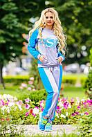 """Стильный женский спортивный костюм """"Меланж,довяз"""""""
