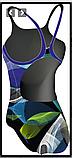 Купальник для бассейна ярко  синий, фото 2