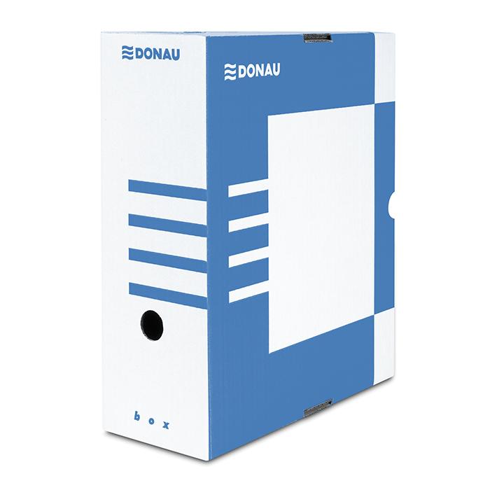 Бокс для архівації докум., 120мм, синій7662301PL-10