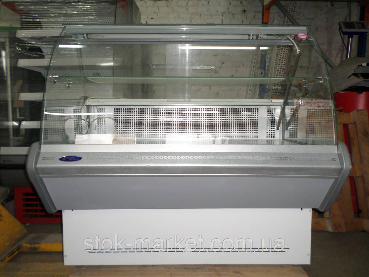 Холодильная витрина б/у Технохолод Небраска  1,3 м гастрономическая среднетемпературная.
