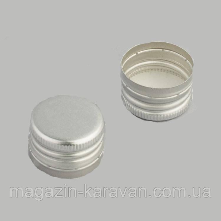 Колпачок алюминиевый 28*18 серебро резьба