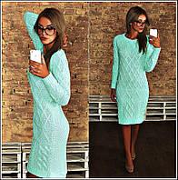 Женское платье материал теплая вязка 100% акрил