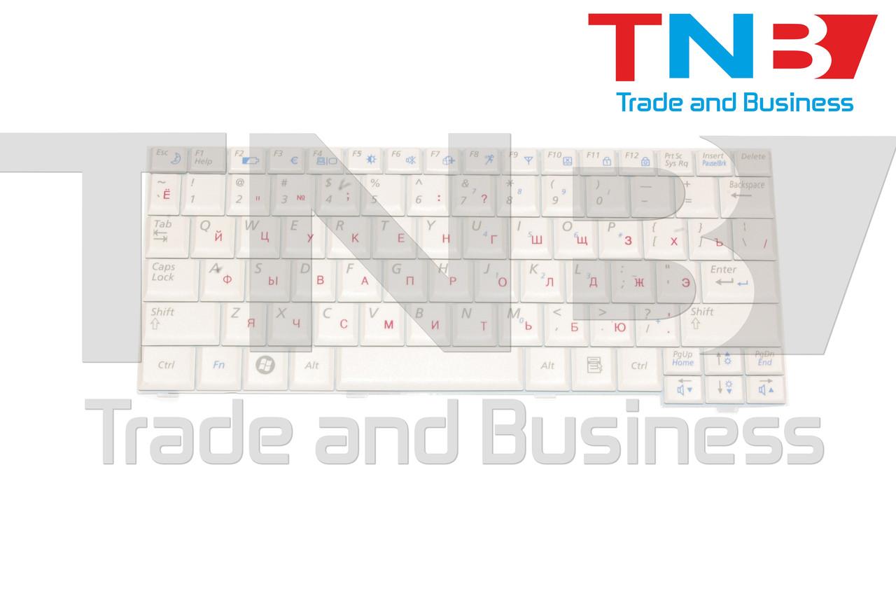 Клавіатура Samsung N108, N110, N127, N130, N135, N138, N140, ND10, NC10 біла RUUS