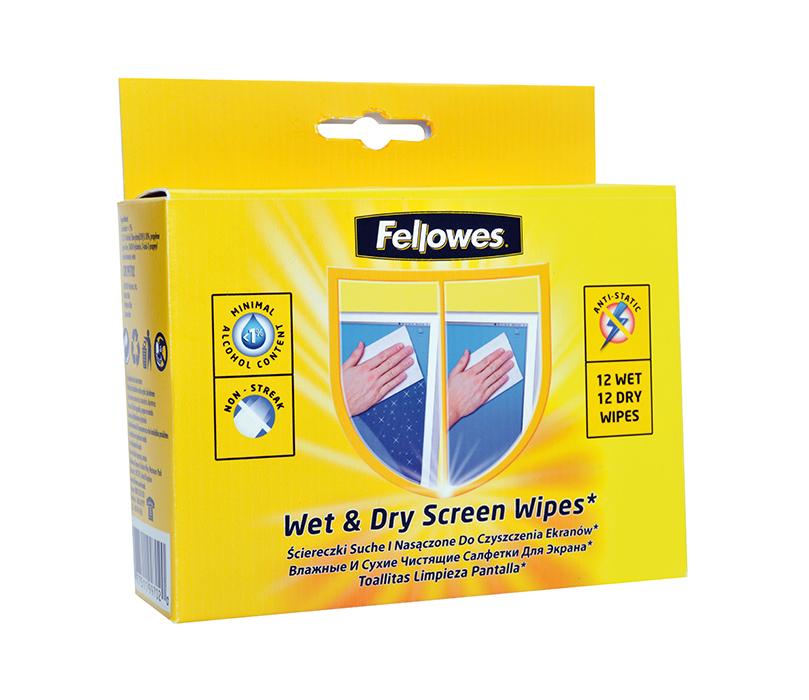 Комплект для чищення екранів з сухих і вологих серветокf.99702