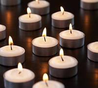 Набор белых свечей чайных 10 шт (таблетка, плавающие)