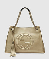 Женская сумка GUCCI SOHO TOTE GOLD BAG (3470), фото 1