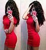 Платье плече-фонарик, три цвета!!! красное