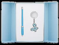 Набор подарочный Langres Night Moth: ручка шариковая + брелок, синий