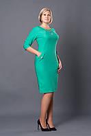 Праздничное женское платье р.46-54 зеленое V252-1