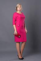 Праздничное женское платье р.46-54 малиновое V252-2