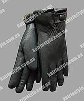 Перчатки мужские кожаные утеплитель мех