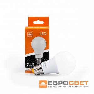 Лампа светодиодная Евросвет А-7-3000-27  7вт 170-240V