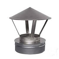 Зонт на трубу дымохода 160/220 двустенный нержавейка/оцинковка
