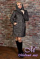 Женское зимнее пальто с хомутом р. (S-L) арт. Сплит букле зима хомут 8273