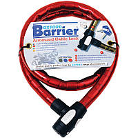 Oxford Barrier Amoured Cable Lock, Red - Красный