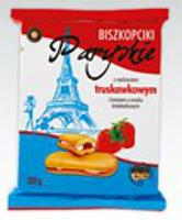 Бисквитные пирожные  Biszkopciki Paryskie Strewberry 200gr. Польша