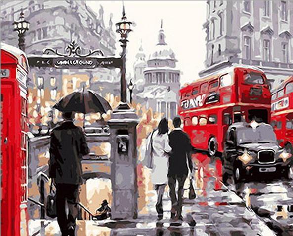 Набор-раскраска по номерам Лондонский дождь худ. Ричард Маклейн