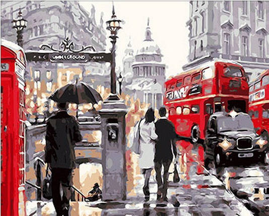 Набор-раскраска по номерам Лондонский дождь худ. Ричард Маклейн, фото 2