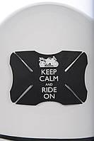 Наклейка защитная - бампер для мото шлема Oxford Ride On