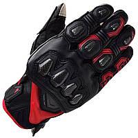 Мотоперчатки RS TAICHI High Protection кожа черный красный M