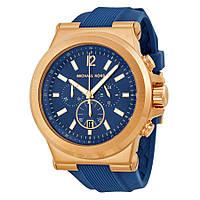 Часы мужские Michael Kors Dylan Navy Dial Rose Gold-tone Navy Silicone Strap MK8295