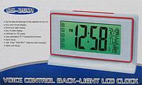Сенсорные цифровые часы Ds-3601 с термометром и подсветкой