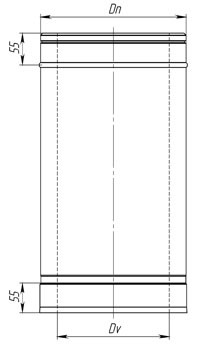 Схема трубы сэндвич 1м