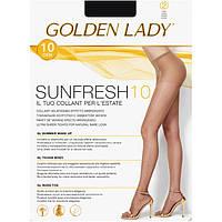 Женские тончайшие колготки с оттенком натурального загара GOLDEN LADY SUNFRESH 10  KLG-92