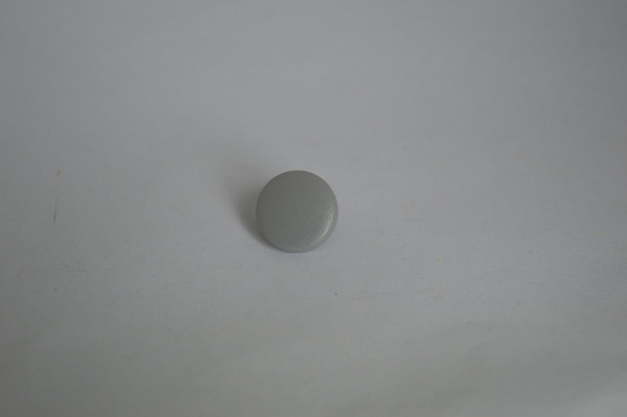 Темно серый Шапочки для кнопок цветные пластик 15 мм