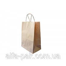 Пакет бумажный на вынос с ручкой 350*250*140