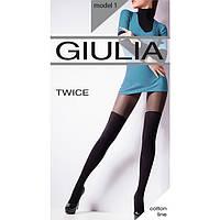 Женские хлопковые колготки с имитацией ботфортов GIULIA TWICE 120 model 1  KLG-177