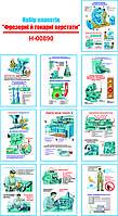 """""""Фрезерні і токарні верстати"""" (10 плакатів, ф. А3)"""