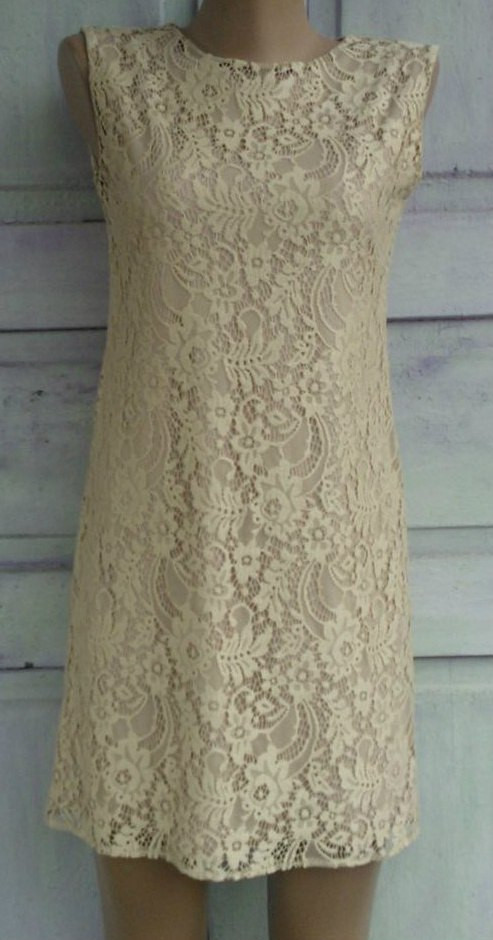 Подростковое платье Гипюр (бежевое)