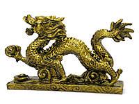 Дракон каменная крошка бронза (2 шт/уп) (13х8х3 см)
