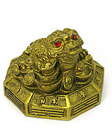 Жаба каменная крошка бронза (6,5х7х5 см)