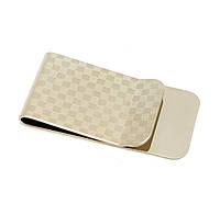 Зажим для денег Клетка хром (5,5х2 см)