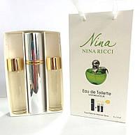 Nina Ricci Nina Plain (Green Apple)  мини парфюмерия в подарочной упаковке 3х15 ml DIZ