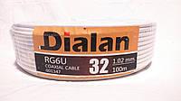 Коаксиальный кабель Dialan RG6U 32W (для спутникового и эфирного телевидения)