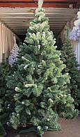 Искусственная Елочка Карпатская 1,8 м с белым кончиком. Новогодняя елка, ёлка. Штучна новорічна ялинка 180 см