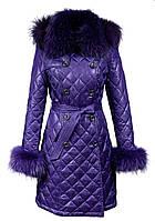 Пуховик демисезонный Burberry стеганный фиолетовый