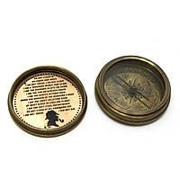 Компас Sherlock Holmes бронза (d-6,h-2 см)
