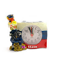 Лошадь часы с будильником (8х8,5х5 см)