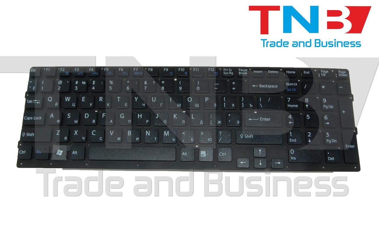 Клавиатура SONY Vaio VPC-EC Series черная без рамки RUUS